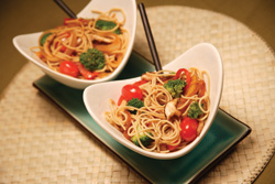 Asian pasta with vegetables