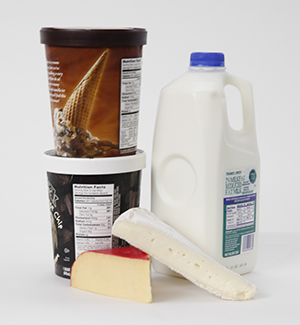 Foods containing milk.